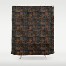 Old boards, old wood, aged wood, wood Shower Curtain