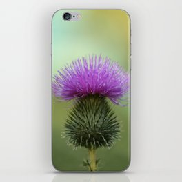 Bright Purple and Green Thistle iPhone Skin