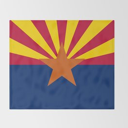 Arizona State flag, Authentic version - color and scale Throw Blanket