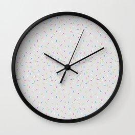 Sprinkles, Please (Light Grey) Wall Clock