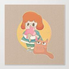 Katzenmann And Me Canvas Print