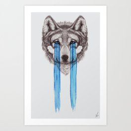 Don't Cry Wolf Art Print