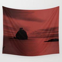 Crimson Nightfall Wall Tapestry