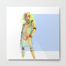 Elga - Robochique Metal Print