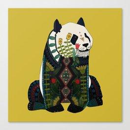 panda ochre Canvas Print