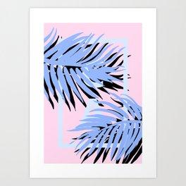 Cali blue blue Art Print