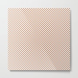 Caramel Polka Dots Metal Print