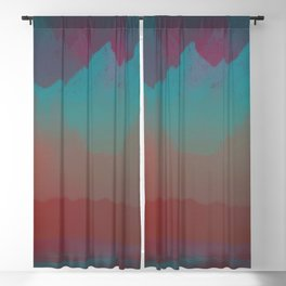 Ombre Mountainscape (Sunset Colors) Blackout Curtain