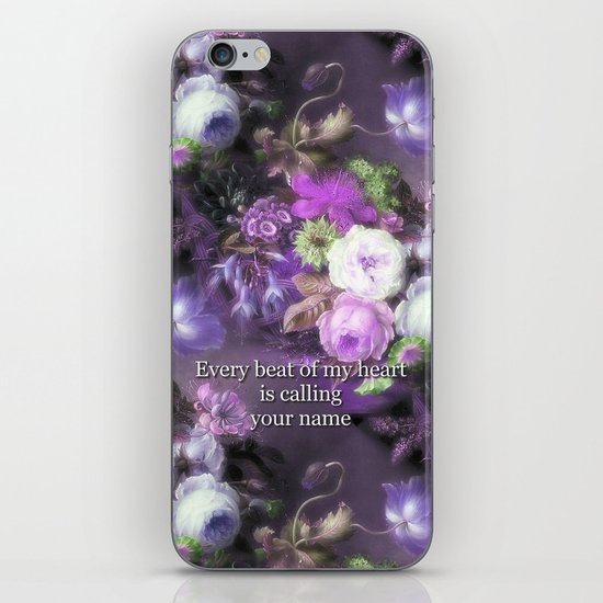 Every Beat of My heart is Calling Your Name iPhone & iPod Skin