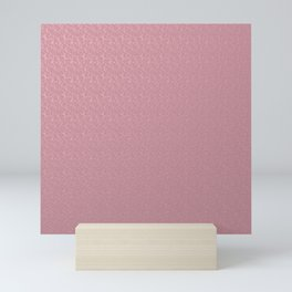 monochrome delicate  pink pattern with smaller structural Mini Art Print