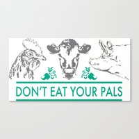 vegan Canvas Prints featuring Vegan  by Livi