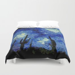 Starry Night Over the desert Duvet Cover