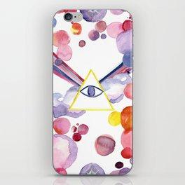 Eye triangle psychedelia iPhone Skin