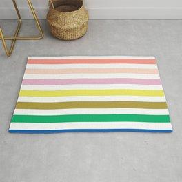 Rainbow stripes colorful decor for kids room nursery boy or girl Rug