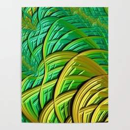 patterns green yellow string Poster