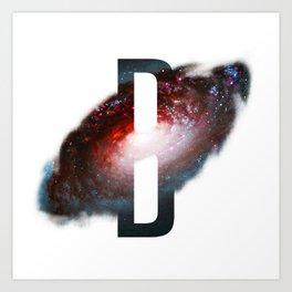 Universe Alphabet B Art Print