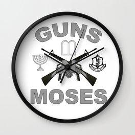 Guns 'n Moses for Dark Colors! Wall Clock
