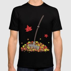 Best Friends: Rake and his Leafy Pals MEDIUM Mens Fitted Tee Black
