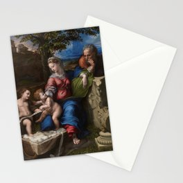 "Raffaello Sanzio da Urbino ""The Holy Family below the oak"", 1518 Stationery Cards"