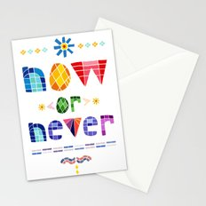 Now or Never Stationery Cards