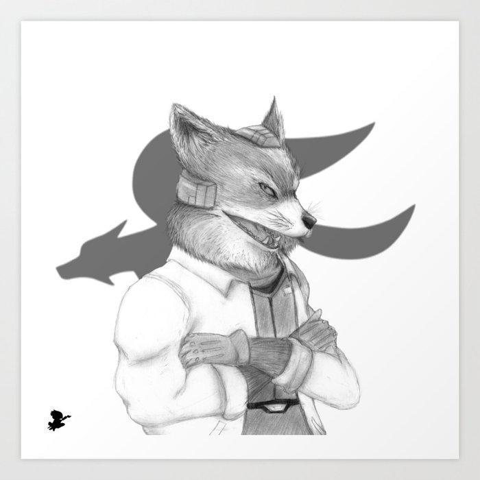 Fox Mccloud Art Print By Dinesvisualart