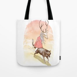 wolf and dear Tote Bag