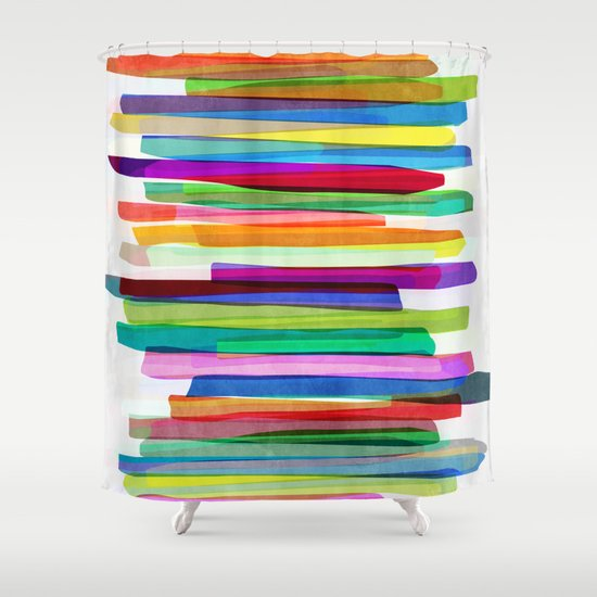 Colorful Stripes 1 Shower Curtain By Mareike Bohmer