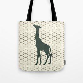 Giraffe in the Woods Tote Bag