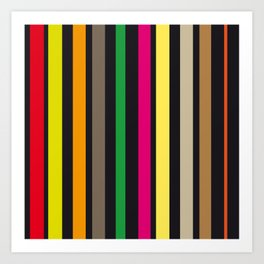 bold stripes and color Art Print