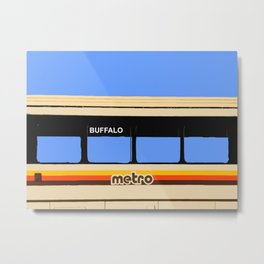 THE METRO Metal Print