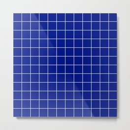 Sapphire Grid Metal Print