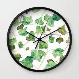 English Ivy Pattern Wall Clock