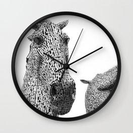 The Kelpies Wall Clock