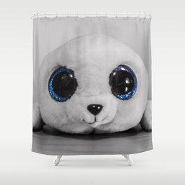Huggable photogenic seal Shower Curtain