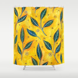 connected to nature Shower Curtain