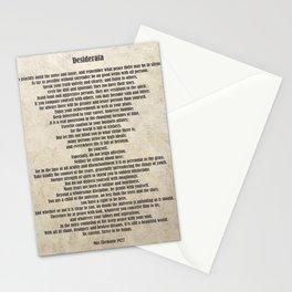 Desiderata Poem By Max Ehrmann Nr. 1001-2 Stationery Cards