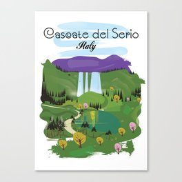 Cascate del Serio, Lombardia, italy, Canvas Print