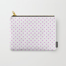 Dots (Violet/White) Carry-All Pouch