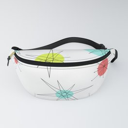Atomic Age Colorful Planets Fanny Pack