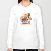 tintin Long Sleeve T-shirts featuring Tintin and Snowy! by Ana Xoch Guillén
