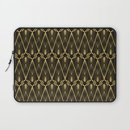 Art Deco Squares and Diamonds of Gold Laptop Sleeve