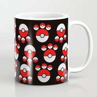pokeball Mugs featuring Pokeball Print by UMe Images