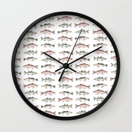 Pattern: Inshore Slam ~ Redfish, Snook, Trout by Amber Marine ~ (Copyright 2013) Wall Clock