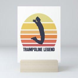 trampoline trampolining evolution jump jump Mini Art Print