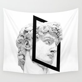 Profile of David statue by Miguel Angel (frame) Wall Tapestry