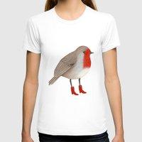 robin T-shirts featuring Robin by Hana Stupica