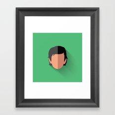 Dameron Poe Flat Design Framed Art Print