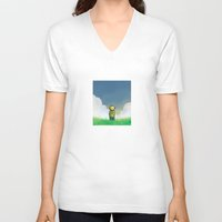 relax V-neck T-shirts featuring Relax by Janko Illustration