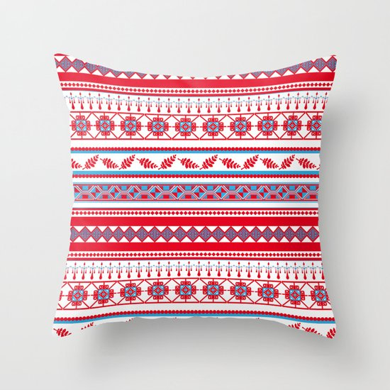 Eastern Lines Throw Pillow