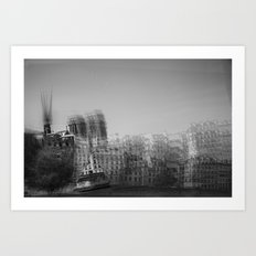 then finds me in black + white Art Print